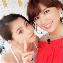 久松郁実&朝比奈彩、ハイレグ競泳水着共演で魅せた!