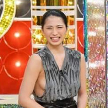 日本一のおっぱい美女・中岡龍子、初テレビで刺激的すぎる横乳!