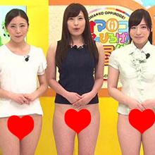 美人女子アナらが「オマ●コおっぴろげ」で変態淫語連発!