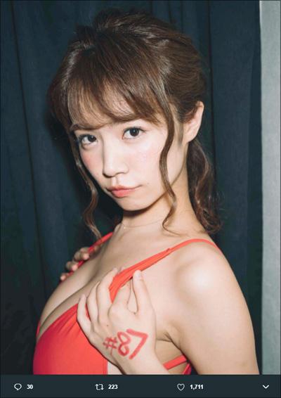 【SNSセクシー】ド迫力のおっぱいショット!の画像2