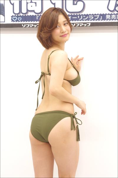 「パッと見、裸(笑)」軟乳グラドル・橘花凛、最新DVDで完全にレースの変形水着!の画像2