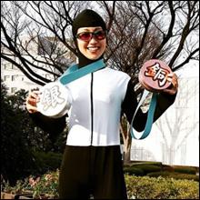 お天気キャスター・酒井千佳、朝から刺激的な五輪コス! 胸のカタチがわかるスケート姿に視聴者興奮