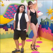 9頭身モデル・熊江琉唯、連日のビキニ露出で男性人気が急上昇! ロッチ中岡とのツーショットに「同じ生物と思えない」と驚愕の声